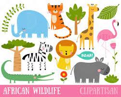 Safari Animals Template African Wildlife Clip Art Safari Animals Printable Jungle