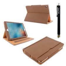 ipad mini case fusiontechluxury tan leather case cover for ipad mini 1 2 3 with smart cover auto sleep wake feature ipad mini1 2 3 brown on on