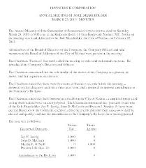 Corporate Meeting Minutes Examples First Shareholder Meeting Minutes Template