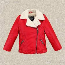 whole children s leather coat in winter boy girl with hair thickening lapel pu leather jacket leather jackets for kids boys winter jacket from sinsmile