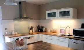 Belle Cuisine Bois Et Taupe Clair Laqué Exquisite Home Design