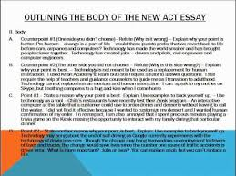 Act Example Essays Act Essay Example Act Essay Example Tips For Selecting