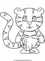 Disegni Da Colorare E Stampare Per Bambini Animali Da Colorare La Tigre