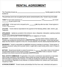 lease agreement sample lease agreement template doc rental agreement template doc 20 rental