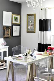 black white home office inspiration. This Black, White \u0026 Gold Home Office Is Filled With DIY Projects And Inspiration That Chic Cheap. Photo By Monicawantsit.com Black L