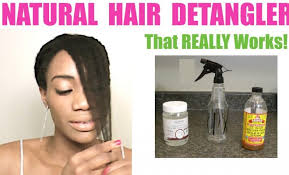 diy hair detangler le cider vinegar coconut oil reed