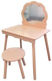 Kids Bedroom Vanity Pink Vanity Dressing Table Mirror Stool Kids Children Girls Boys
