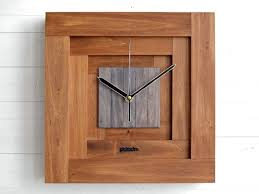 Contemporary Office Designs Awesome Square Wall Clock Geometric Design And Form 48D Box Inspired Etsy