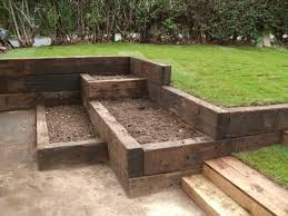 garden design with sleepers. garden railway sleepers design with a