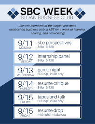 Sbc Week Sloan Business Club