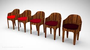 classical curved red wooden bucket seats 3