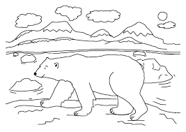 Small Picture Good Polar Bear Coloring Page 23 In Free Colouring Pages with