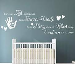 Tjapalo Pkm191 Name B130xh43 Cm Wandtattoo Kinderzimmer Baby