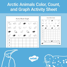 Use This Arctic Animal Themed Block Graph Activity Sheet To