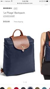 le pliage backpack longch color navy m nordstrom