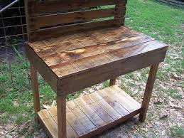 Small Picture Pallet Garden Potting Bench Work Bench 101 Pallets