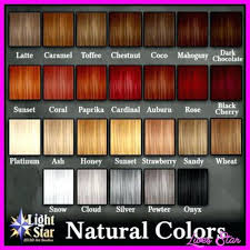 Shades Of Red Hair Colour Chart Best Picture Of Chart