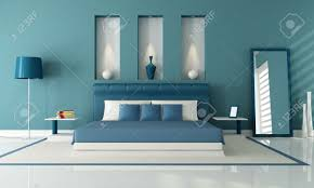 Elegant Contemporary Bedroom With Niche   Rendering Stock Photo   9277269