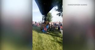 Hot air balloon lands on crowd in Missouri festival, injuring 3 - CBS ...