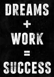 Dreams And Success Quotes Best of Dreams Plus Work Quote Picture