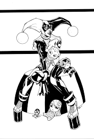 best harley quinn coloring pages