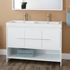 Cabinets To Go Bathroom Mesmerizing White Painted Bathroom Floor Cabinet Completed With