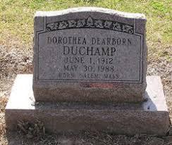 Dorothea Bruce Dearborn DuChamp (1912-1988) - Find A Grave Memorial