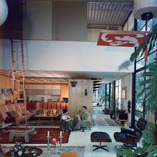 eames furniture design. Charles And Ray In The Living Room Of Eames House, 1958 © J. Furniture Design R