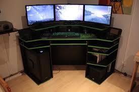 gaming computer desk. Modren Desk Best Gaming Desk Furniture  Outstanding Computer Designs With  Black E