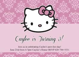 hello kitty invitation front innovative designs blog birthday invitations hello kitty invitation front