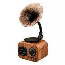 Loa Bluetooth Mini Máy Hát Cổ Điển, Loa Không Dây Di Động, Ngoài Trời Âm  Thanh Hệ Thống Loa Siêu Trầm Hỗ Trợ Đài FM TF
