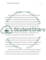 organizational change interview paper essay example topics and organizational change interview paper essay example