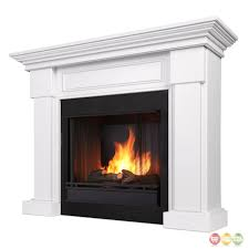 hillcrest ventless gel fuel fireplace in white with logs for amazing gel fireplace
