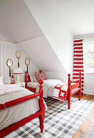 red furniture ideas. coated a glossy red they have cohesive look with just the right dose of country quirk above vintage tennis rackets get smart furniture ideas