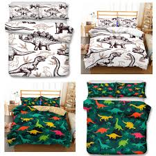 3d art prints kids baby crib beddin bedding sets cartoon dinosaur duvet covers pillow case twin size all size a duvet cover sets bedroom comforter