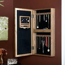 lively wall mount jewelry mirror wall mount jewelry with mirror front light oak jewelry s0333609