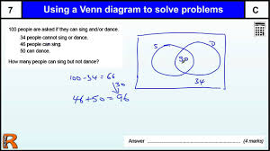 Math Venn Diagram Worksheet Venn Diagram To Solve Problems Gcse Maths Revision Exam Paper