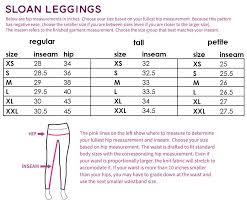 Sloan Paneled Leggings Size Chart Design Kids Fashion