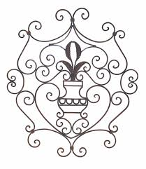 Small Picture Remarkable Ornate Scroll Design Wrought Iron Wall Decor Panel 434