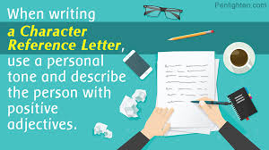Adjectives For Recommendation Letter Character Reference Letters Examples