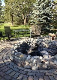 my field stone fire pit