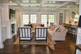 Kitchen Family Room Layout The Cape Cod Ranch Renovation Like The Placement Of Flatscreen