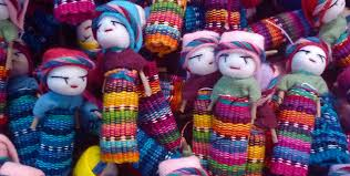 Worry Dolls from Guatemala hand made out of textile