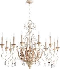 quorum 6344 12 70 venice 12 light chandelier persian white
