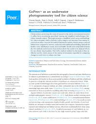 Gopro Organizational Chart Pdf Gopros Tm As An Underwater Photogrammetry Tool For