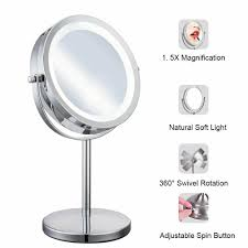 Conair Double Sided Lighted Swivel Vanity Mirror Details About Lighted Makeup Mirror With 5x Magnification Dimmable Light Double Sided Ly