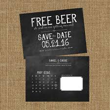 Save The Date Free Beer Digital Only Wedding Save The Date
