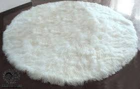 mongolian fur rug 8 lamb fur round rug many colors grey mongolian faux fur rug