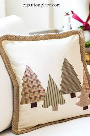 no sew tree pillow quick and easy tutorial that includes 3 templates for making