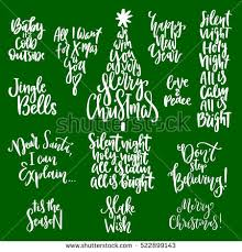 Holiday Season Quotes Interesting Set Handwritten Christmas Quotes Wishes Modern Stock Vector Royalty